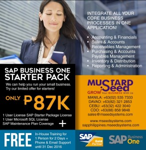 SAP Starter Package limited time offer with huge discount