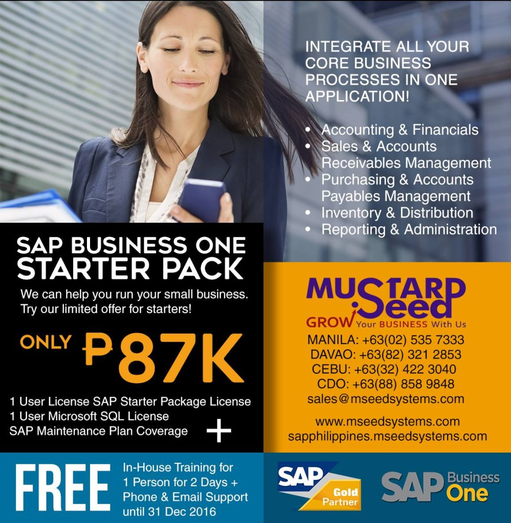 SAP Philippines by Mustard Seed Starter Package